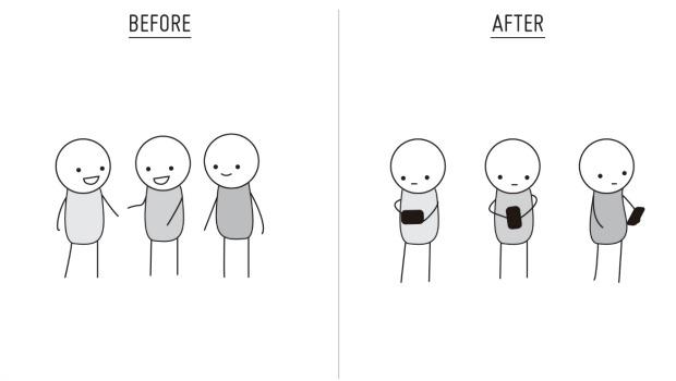 la vida antes de los smartphones