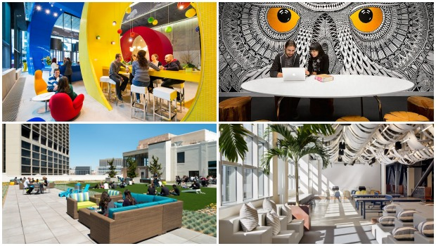 10 oficinas de empresas tecnol gicas en las que molar a for Decoracion de oficinas creativas