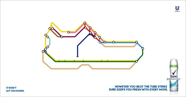 Rexona - London tube strike